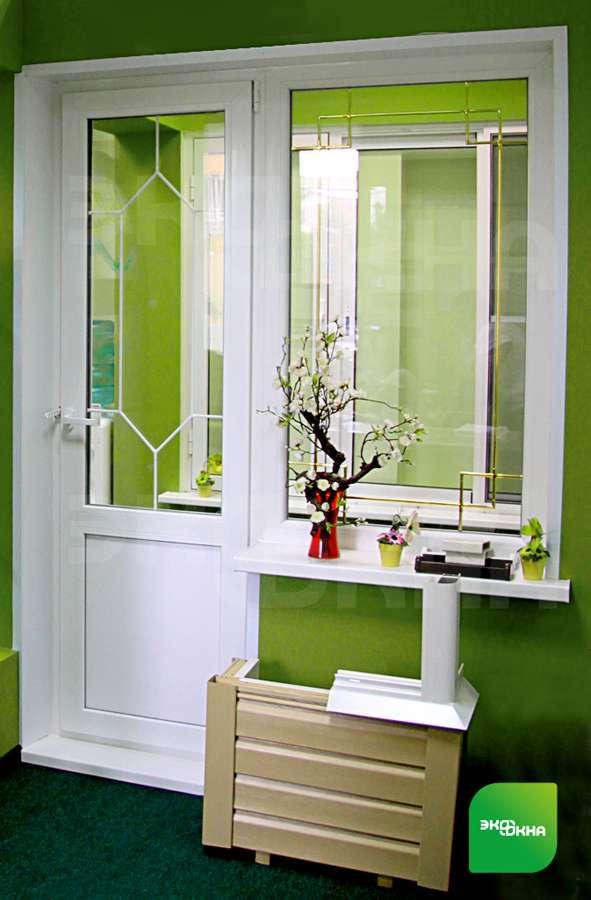 Дизайн и оформление балконной двери: фото идеи.