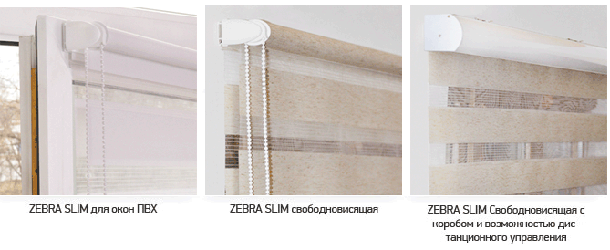Рулонные шторы ZEBRA