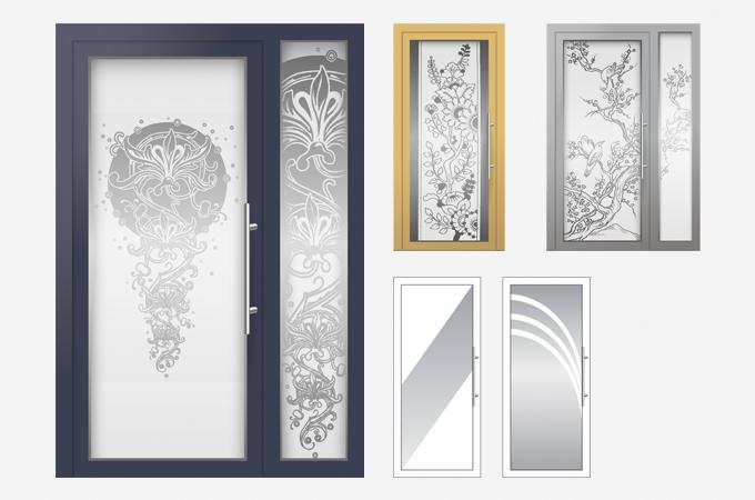 Декорирование стекла двери